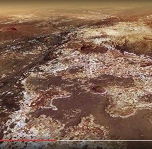 Пейзажи одной из крупнейших долин Марса показали на видео
