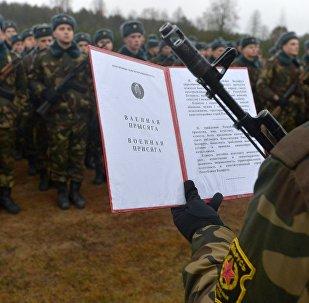 Принятие присяги в 72 гвардейском объединенном учебном центре подготовки прапорщиков и младших специалистов