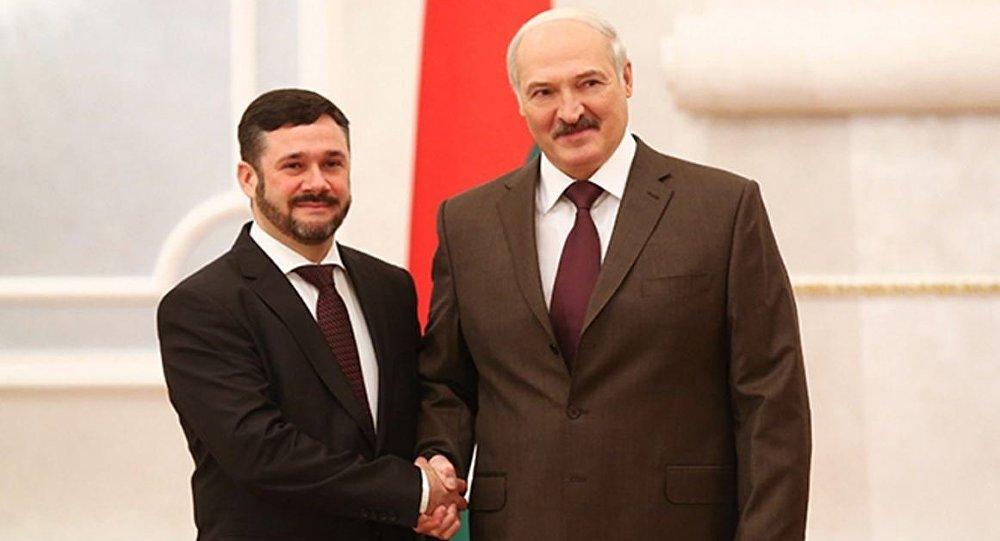 Президент Беларуси Александр Лукашенко принял верительные грамоты Чрезвычайного и Полномочного Посла Литвы в Беларуси Андрюса Пулокаса