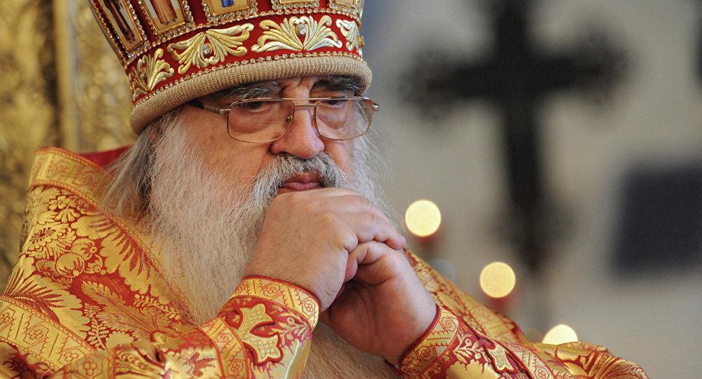 Митрополит Минский и Слуцкий Филарет на патриаршем служении, архивное фото