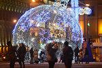 Видеофакт: новогодняя иллюминация зажглась в Минске