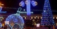 У Мінску ўключылі навагоднюю ілюмінацыю