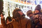 В Гомеле включили новогоднюю иллюминацию