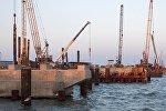 Строительство опор Крымского моста