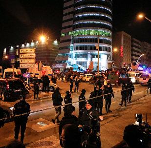 Место нападения на российского посла в Анкаре