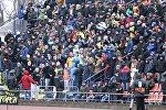 Болельщики на матче Суперкубка Беларуси по футболу Шахтер (Солигорск) - БАТЭ (Борисов)