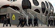 Правоохранительные органы обеспечивают порядок во время матча БАТЭ-Рома на Борисов-Арене