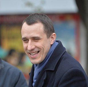Павел Северинец на акции Чернобыльский шлях