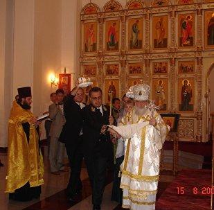 Александр Мацегора на венчании Андрея Карлова в Пхеньяне