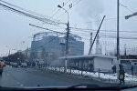 Первые кадры с места взрыва у метро Коломенское в Москве