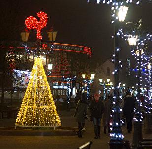 Огненный петух - символ 2017 года, разместился на улице Советской