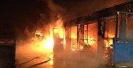 Пожар на складах на улице Лынькова в Минске