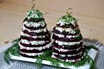 Свекольная елочка – салат из свеклы и брынзы