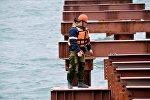 Строительство Керченского моста в Крыму