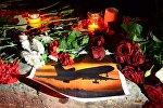 Акция памяти по погибшим в авиакатастрофе в Сочи