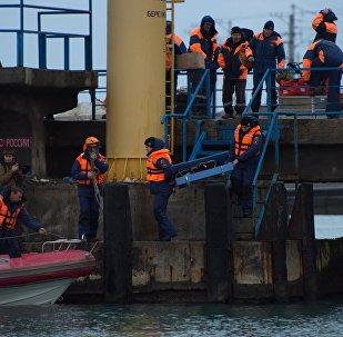 Продолжаются поиски тел погибших в авиакатастрофе Ту-154 в Сочи