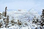 Акрополь в снегу