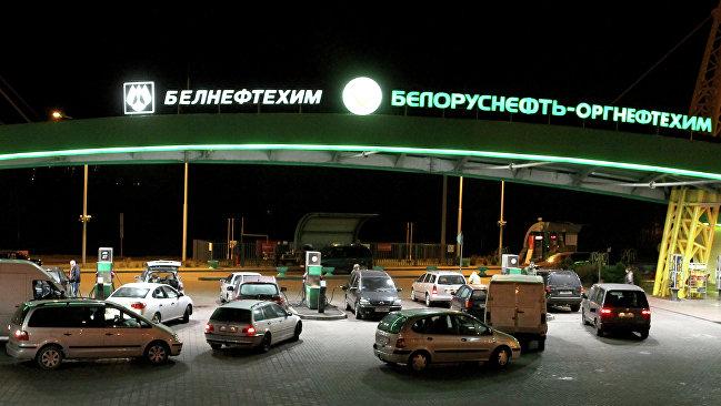 Очереди на заправках в Белоруссии