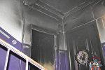 Дверь сгоревшей в Мозыре квартиры