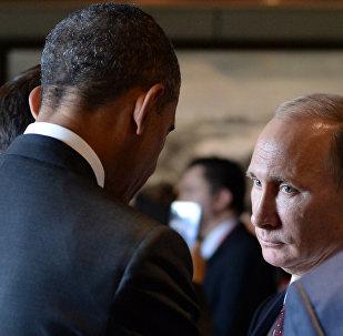 Президент США Барак Обама (слева) и президент РФ Владимир Путин