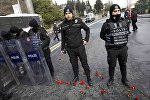 Турецкая полиция на месте теракта