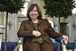 Белорусская писательница Светлана Алексиевич на пресс-конференции в Стокгольме