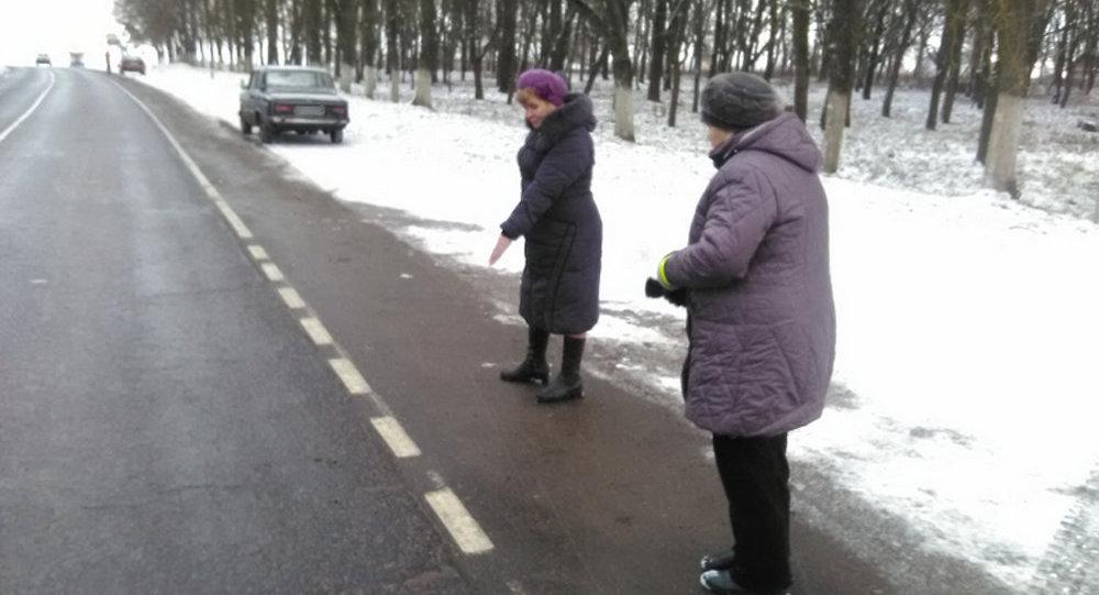 ВБарановичском районе неизвестный автомобиль сбил женщину и исчез