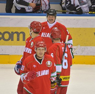 Команда президента Александра Лукашенко на Рождественском турнире по хоккею