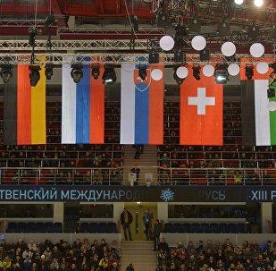Флаги стран-участниц Рождественского турнира в Минске