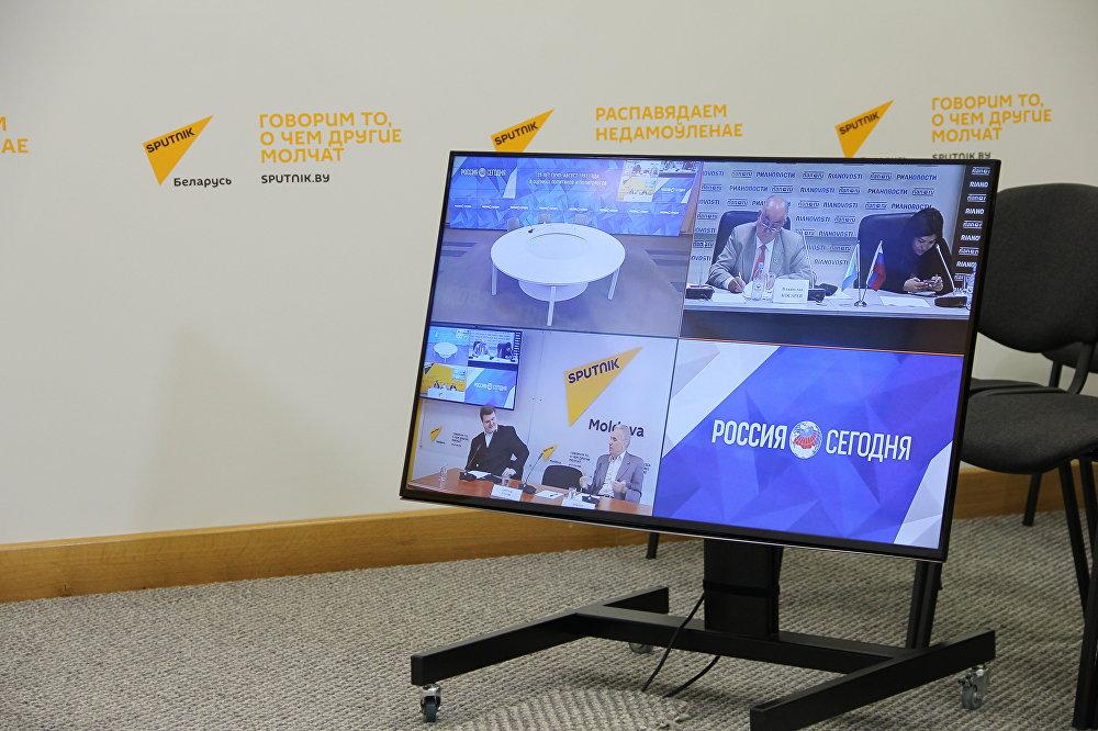 Телемост в пресс-центре Sputnik