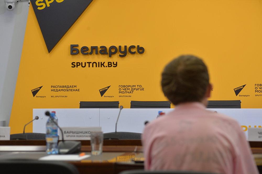 Перед началом круглого стола в пресс-центре Sputnik