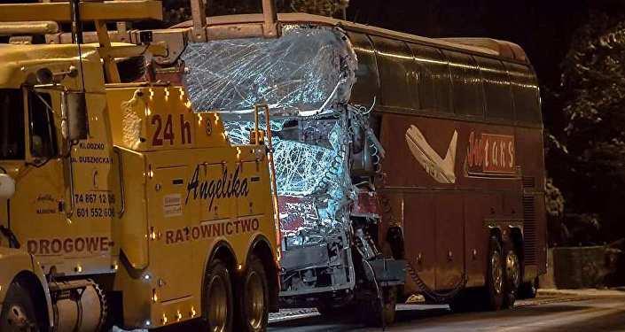 Под Вязьмой попал вДТП витебский туристический автобус