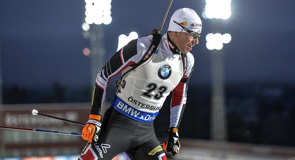 Австрийский биатлонист Юлиан Эберхард