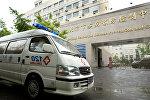 Автомобиль скорой помощи в Китае, архивное фото