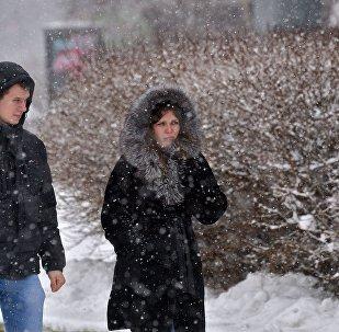 Снег и мороз в Минске