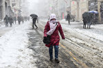 Снегопад в Стамбуле, Турция