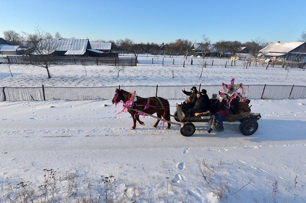 Коляды в деревне Охово Брестской области
