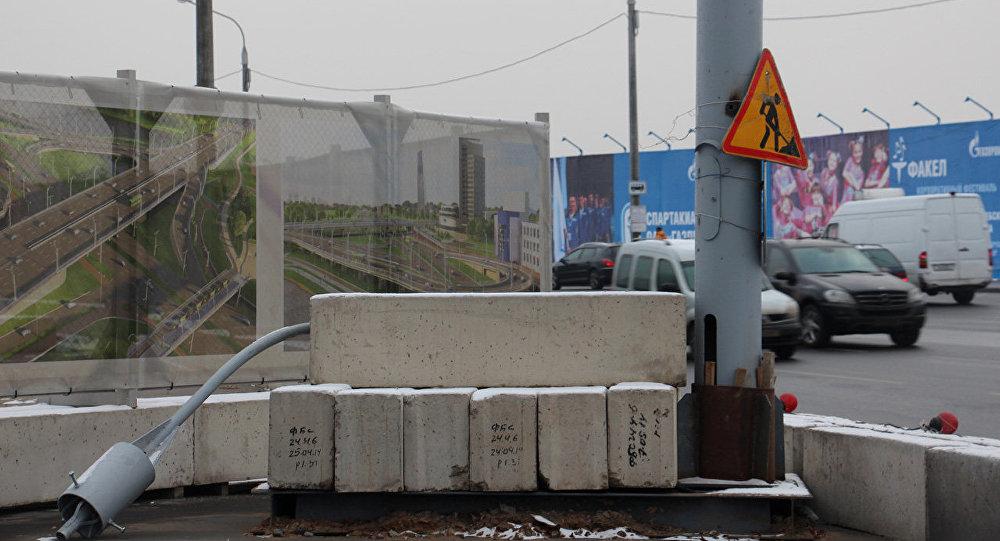 Работы по строительству многоуровневой транспортной развязки Независимости — Филимонова