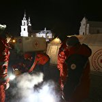 Красный Крест установил у Свято-Духова собора пункт обогрева