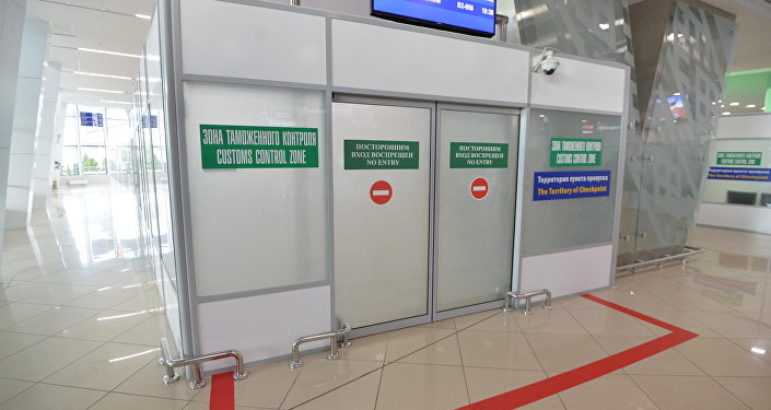 Зона таможенного контроля, аэропорт Минск
