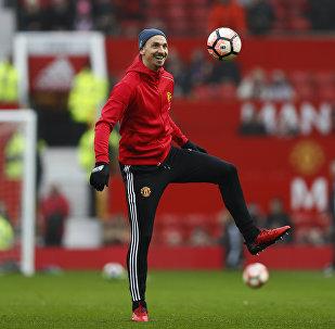 Форвард Манчестер Юнайтед Златан Ибрагимович