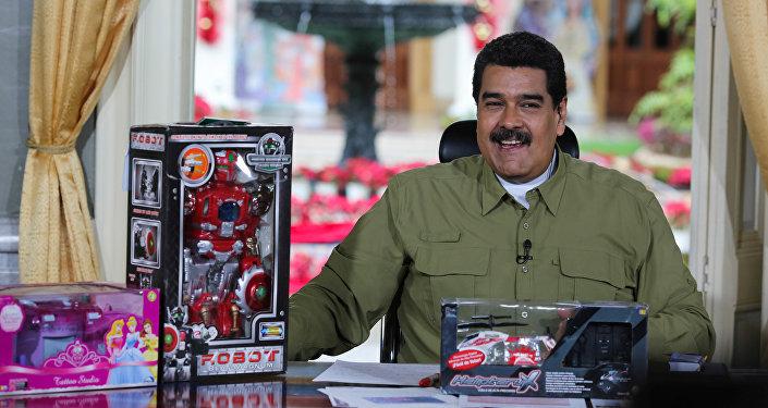 Николас Мадуро во время еженедельной телепередачи для детей