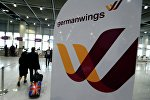 Логотип лоукоста Germanwings в аэропорту Дюссельдорфа