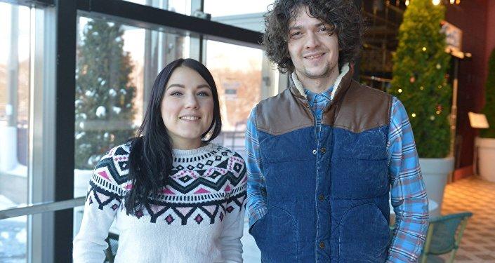 Участники Naviband Артем Лукьяненко и Ксения Жук