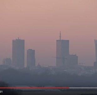 Видео смога над Варшавой