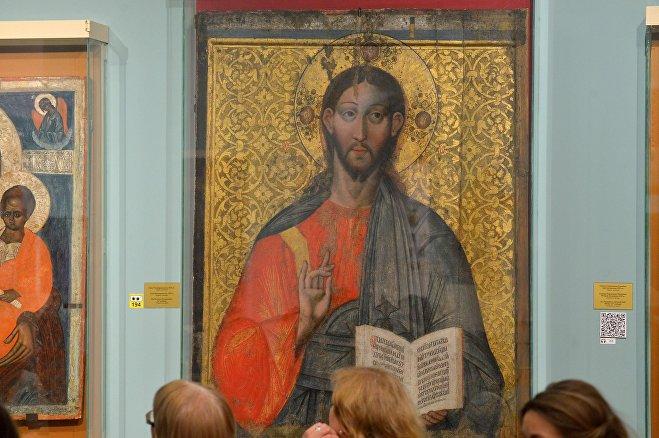 Спас Вседержитель; икона XVI века; дерево, темпера