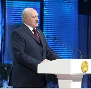 Прэзідэнт Беларусі Аляксандр Лукашэнка на цырымоніі ўручэння прэмій За духоўнае адраджэнне