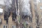 Густой черный дым валил из окон квартир в Саратове после взрыва бытового газа