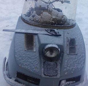 Снегоход нарушителя