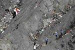 Место крушения воздушного судна авиакомпании Germanwings